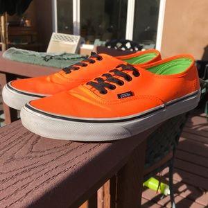 Neon Orange Vans Size 9 (Lightly Used)